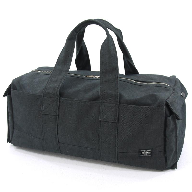 【中古】PORTER/ポーター SMOKY/スモーキー ボストンバッグ サイズ:- カラー:ブラック【f121】