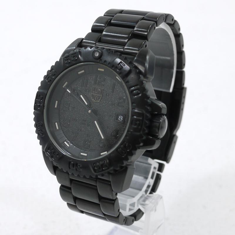 【中古】LUMINOX/ルミノックス BLACKOUT/ブラックアウト 腕時計 アナログクォーツ SERIES 3150 サイズ:- カラー:文字盤:ブラックベルト:ブラック【f131】