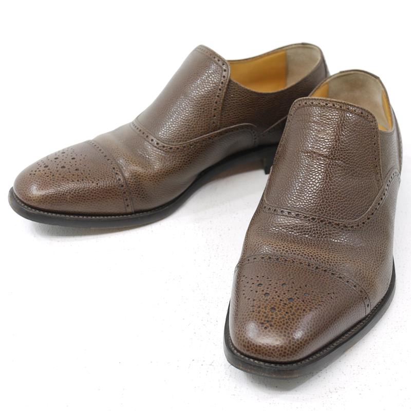 【中古】SCOTCH GRAIN/スコッチグレイン セミブローグ レザーシューズ 革靴 H-1727 サイズ:25・1/2EEE カラー:ブラウン【f127】