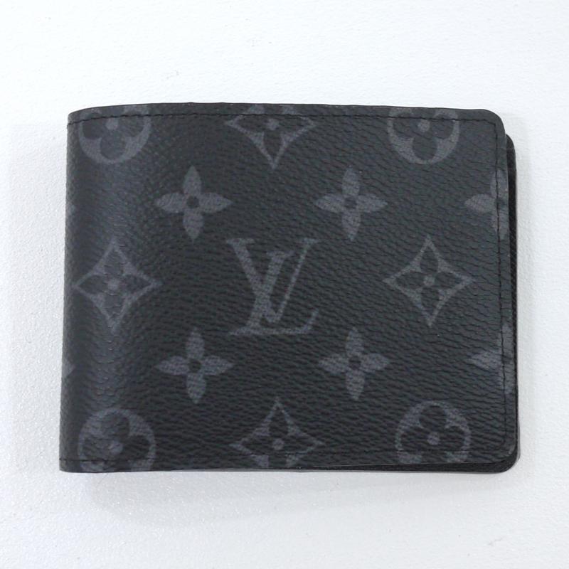 【中古】LOUIS VUITTON/ルイ・ヴィトン ポルトフォイユ・ミュルティプル 二つ折り財布 サイズ:- カラー:ブラック【f125】