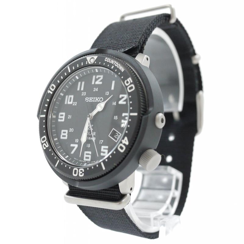 【中古】SEIKO/セイコー 腕時計 PROSPEX FieldMaster LOWERCASE Special Edition プロスペックス SBDJ027 ソーラー ナイロンベルト カラー:ブラック【f131】