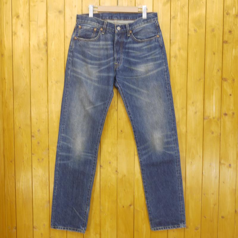 【期間限定】ポイント20倍【中古】LEVIS VINTAGE CLOTHING/リーバイスビンテージクロージング デニムパンツ 501 1996年復刻 サイズ:32 カラー:ブルー【f107】