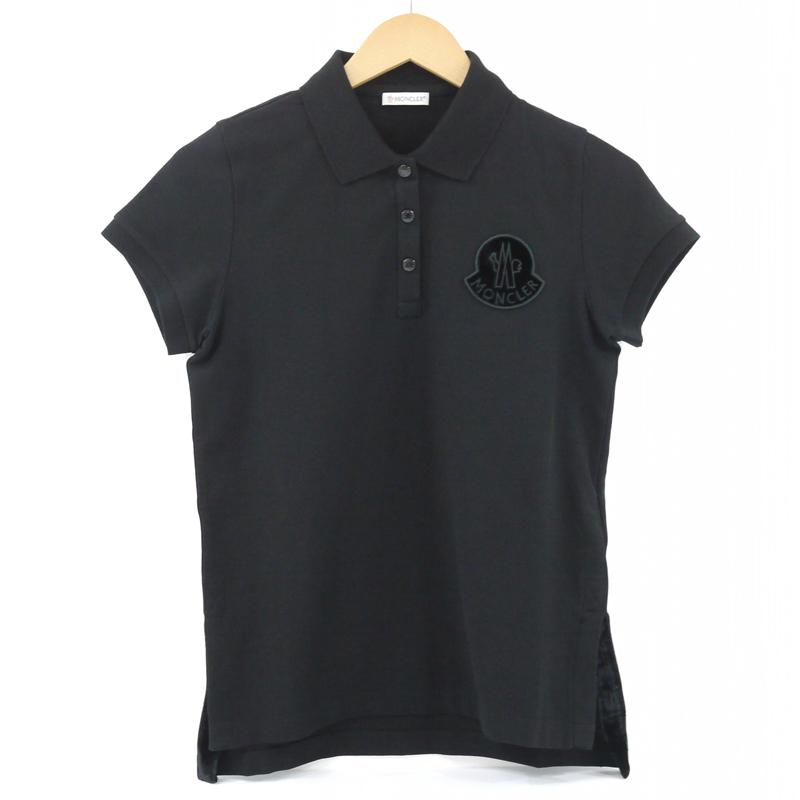 【中古】MONCLER/モンクレール MAGLIA POLO MANICA CORTA 半袖ポロシャツ サイズ:S カラー:ブラック【f108】