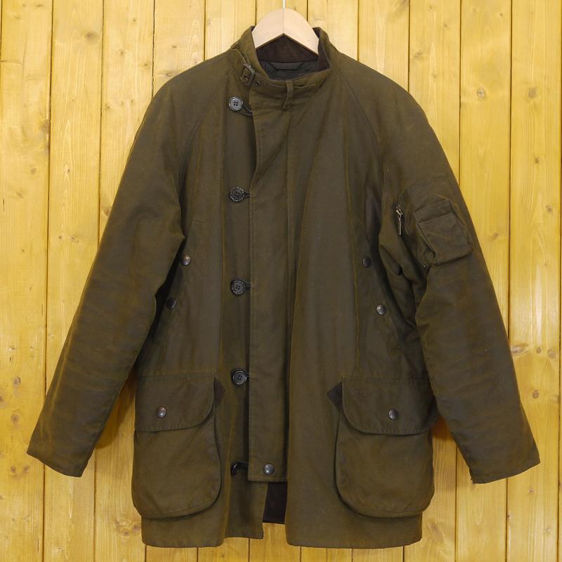 【中古】Barbour/バブアー BEAUFIGHTER オイルドジャケット サイズ:M カラー:カーキ系【f094】