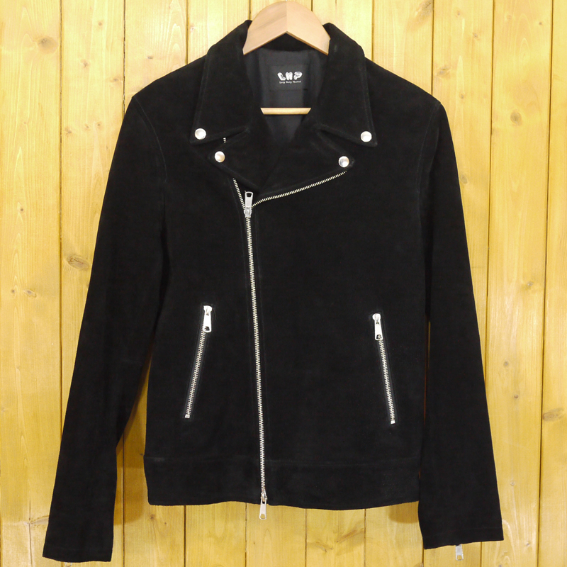 【中古】L.H.P/エルエイチピー ライダースジャケット 豚革 サイズ:L カラー:ブラック【f096】