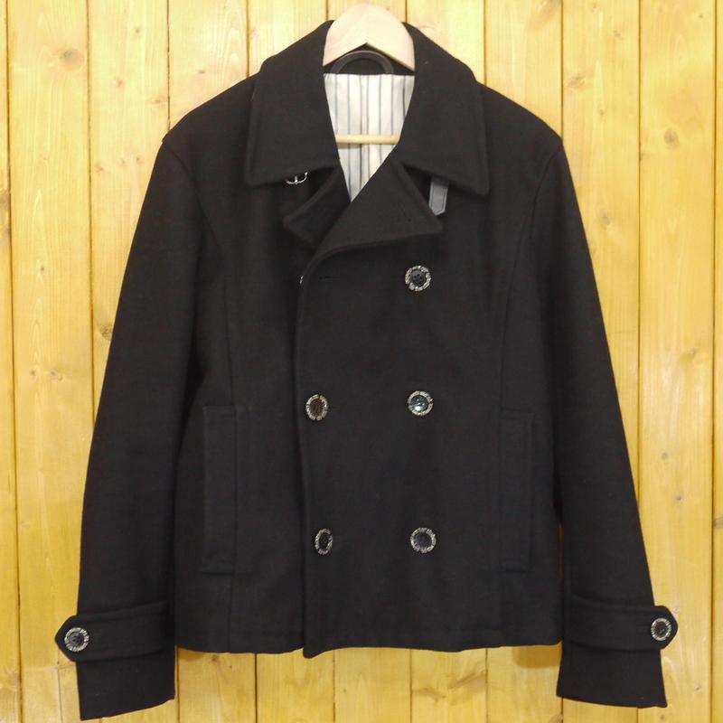 【中古】PHERROW'S/フェローズ Pコート ショートピーコート サイズ:38 カラー:ブラック【f093】