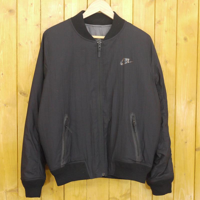 【期間限定】ポイント20倍【中古】NIKE/ナイキ Bomber Jacket リバーシブルジャケット サイズ:M カラー:ブラック・グレー【f111】