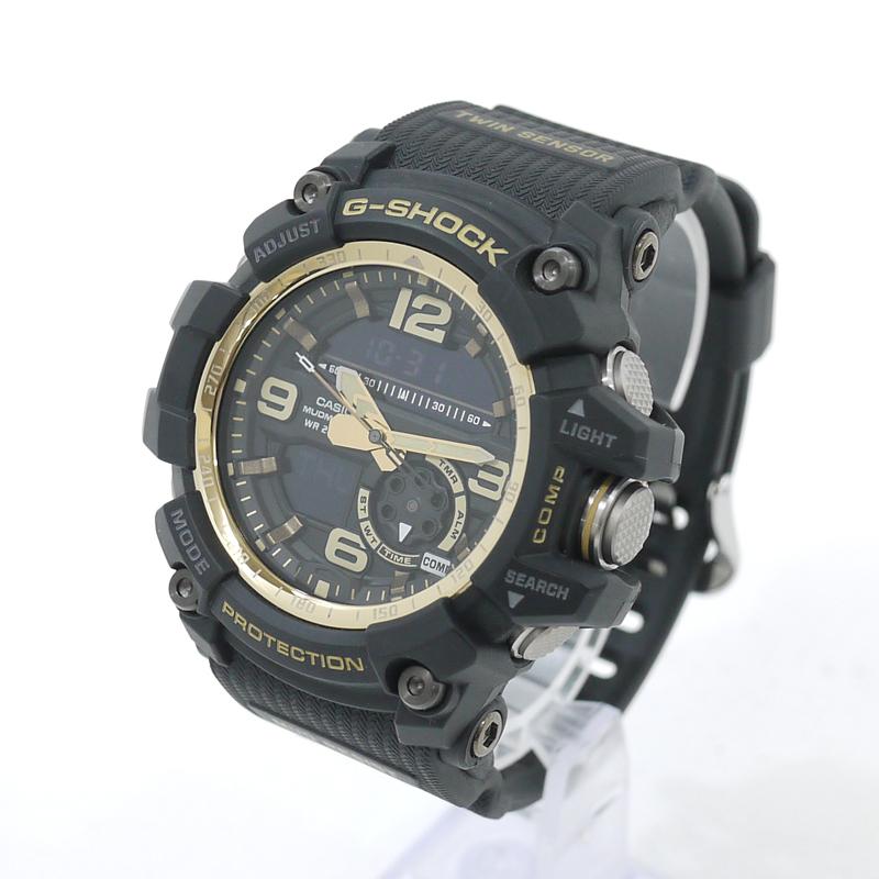 202103pd 中古 CASIO カシオ 腕時計 G-SHOCK Gショック 直輸入品激安 MUDMASTER マッドマスター Vintage Gold カラー:ブラック×ゴールド GG-1000GB-1AER ゴールド Black クォーツ f131 ヴィンテージブラック 送料無料 一部地域を除く サイズ:-