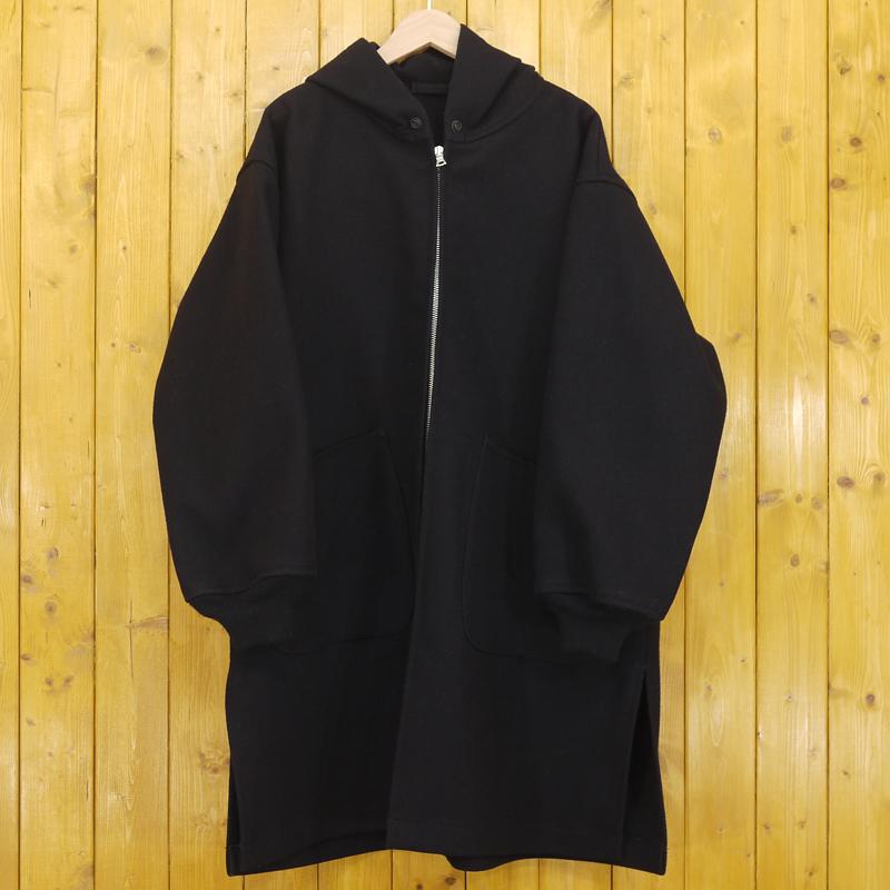 【期間限定】ポイント20倍【中古】COMOLI/コモリ メルトン フーデッドコート N03-04010 サイズ:1 カラー:ネイビー【f096】