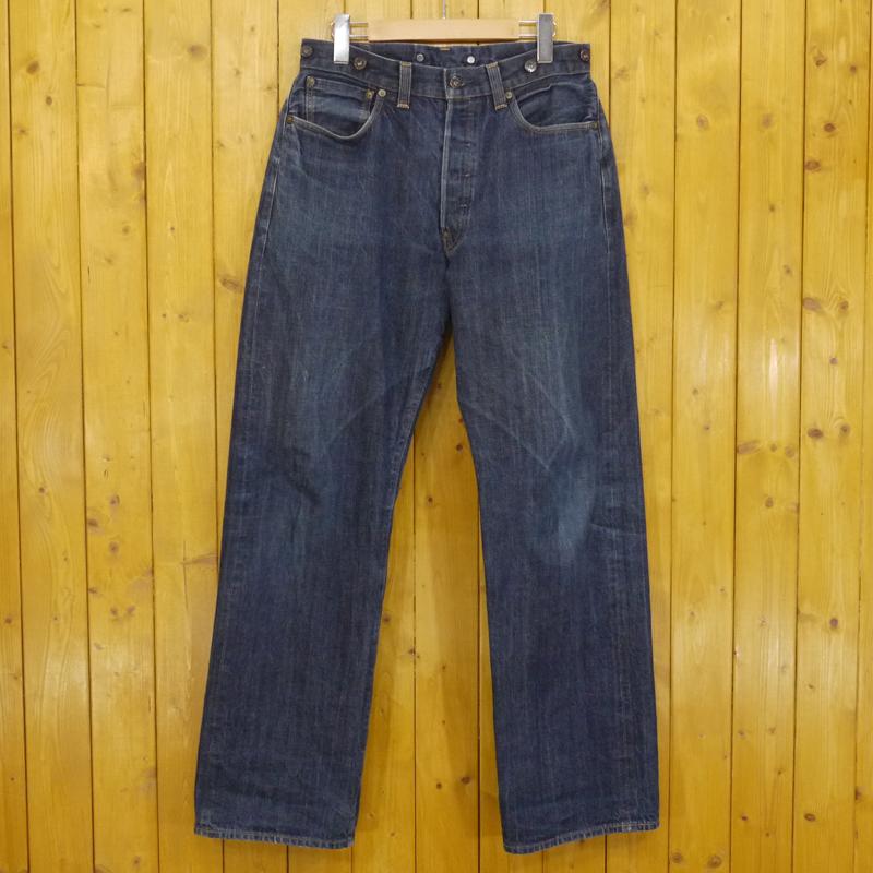 【期間限定】ポイント20倍【中古】LEVI'S VINTAGE CLOTHING/リーバイスビンテージクロージング Lot.201 No.2 ボタンフライデニムパンツ シンチバック サイズ:33 カラー:ブルー【f107】