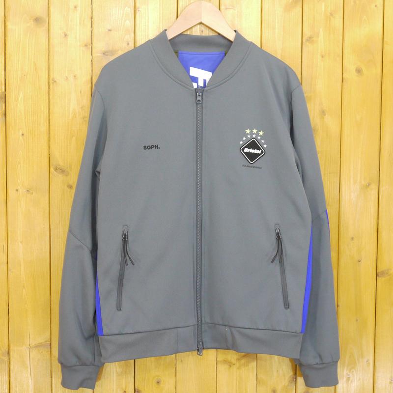 【中古】F.C.Real Bristol/エフシーレアルブリストル REVERSIBLE PDK JACKET リバーシブルジャケット サイズ:M カラー:グレー×カモフラ【f095】
