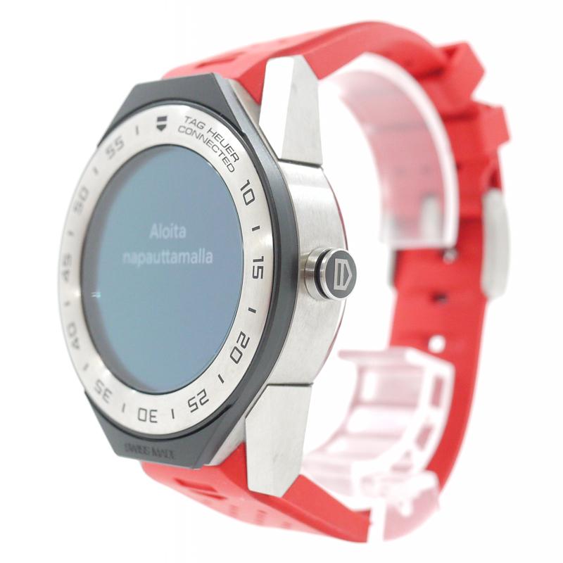 【中古】TAG Heuer/タグホイヤー 腕時計 Connected Modular 41 コネクテッド モジュラー 41 SBF818001.11FT8033 スマートウォッチ ラバーベルト カラー:レッド【f132】