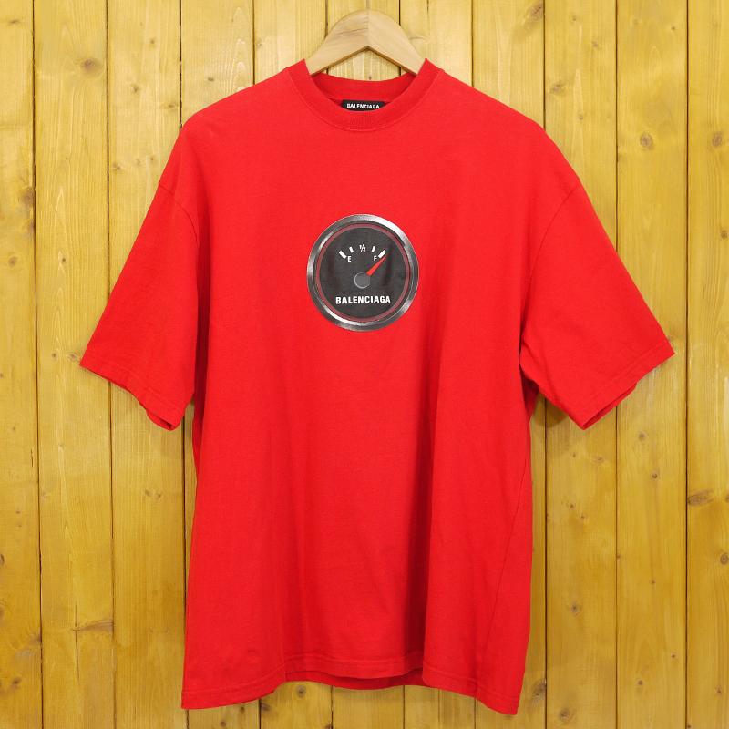 【期間限定】ポイント20倍【中古】BALENCIAGA/バレンシアガ Speed Shrunk T-Shirt 半袖Tシャツ スピードメーター サイズ:M カラー:レッド【f108】