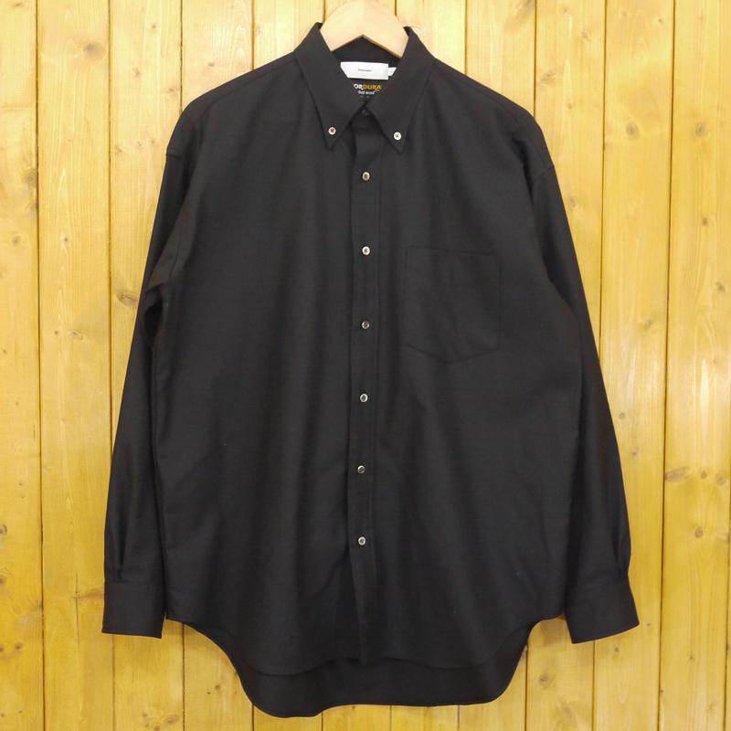 【中古】Graphpaper/グラフペーパー CORDURA RIPSTOP BOX B.D SHIRT ボタンダウンシャツ サイズ:2 カラー:ブラック【f104】