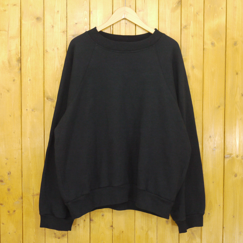 【中古】UNUSED/アンユーズド US1678 Crew Neck Sweat Shirt スウェット サイズ:2 カラー:ブラック【f104】