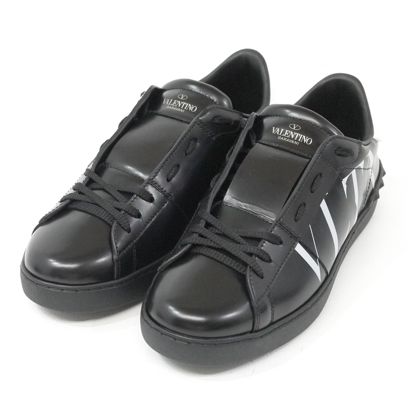 【中古】VALENTINO/ヴァレンティノ スニーカー サイズ:41 カラー:ブラック【f135】