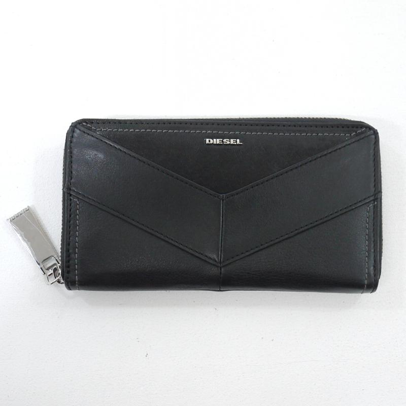 中古 DIESEL ディーゼル 再再販 ラウンドファスナー長財布 サイズ:- オリジナル f124 カラー:ブラック gwpu