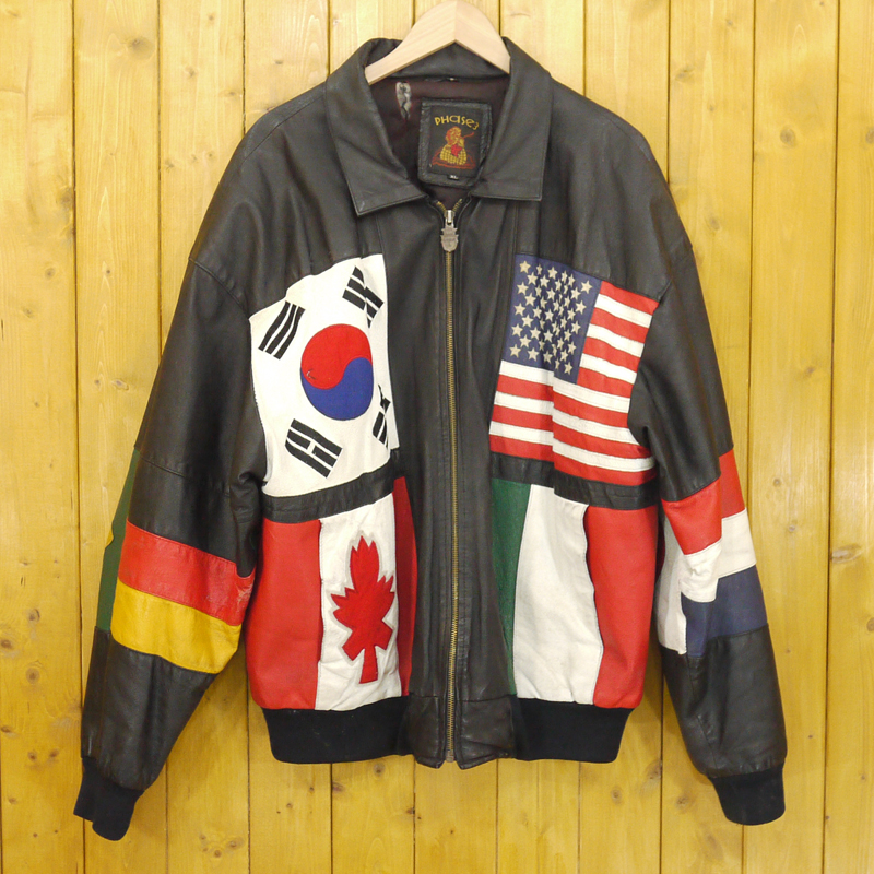 【期間限定】ポイント20倍【中古】VINTAGE/ヴィンテージ 90's Vintage レザージャケット サイズ:XL カラー:ブラックなど【f093】