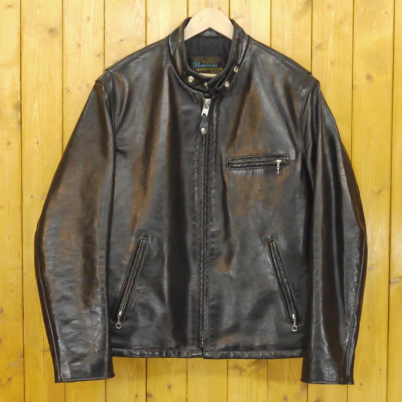 【中古】SCHOTT/ショット 馬革 ホースハイドシングルライダース レザージャケット サイズ:42 カラー:ブラック【f093】