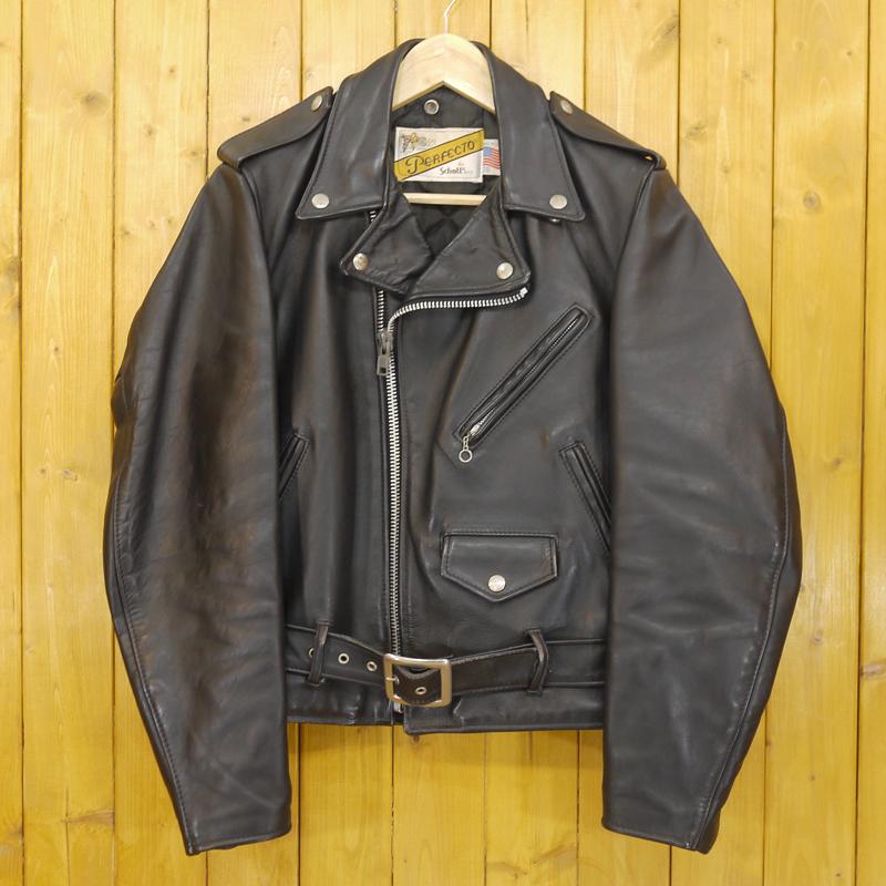 【中古】SCHOTT/ショット ダブルライダースレザージャケット サイズ:36 カラー:ブラック【f093】