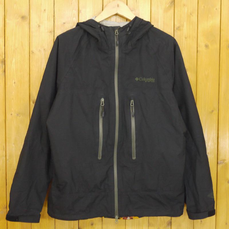 【中古】Columbia/コロンビア ストームノーマッドII ジャケット パンツ セットアップ フィッシングウェア レインウェア サイズ:L カラー:ブラック 【f092】