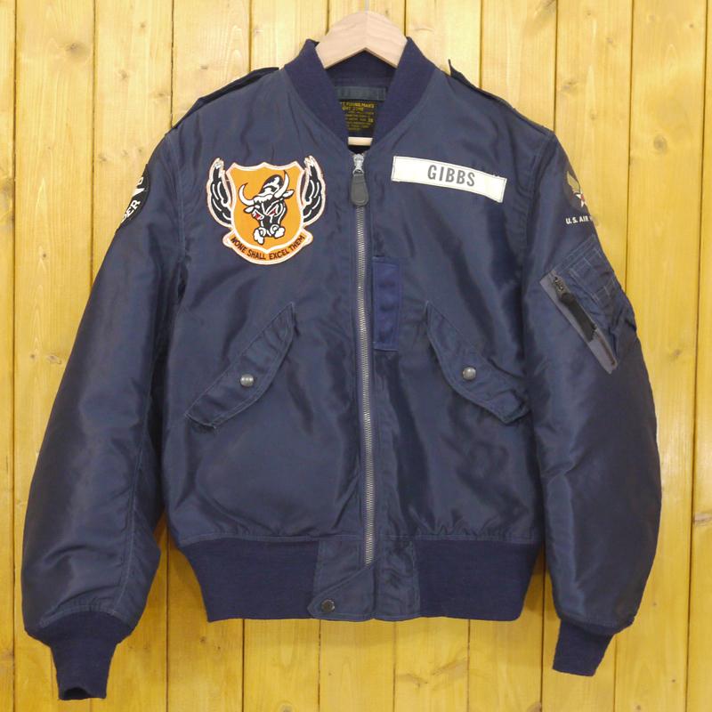 【中古】Buzz Rickson's/バズリクソンズ L-2A Flight Jacket フルパッチフライトジャケット サイズ:38 カラー:ネイビー【f093】