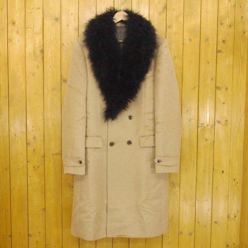 【中古】junhashimoto/ジュンハシモト DOUBLE CHESTER COAT/ダブルチェスターコート サイズ:5 カラー:ベージュ【f096】
