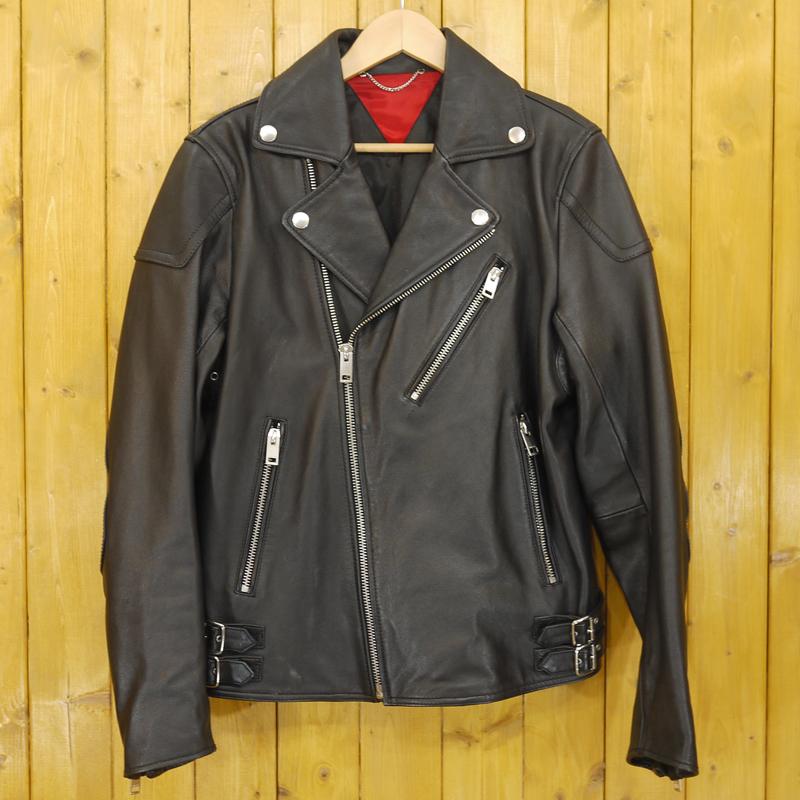 【中古】DIESEL/ディーゼル ライダースジャケット/レザージャケット サイズ:M カラー:ブラック【f094】