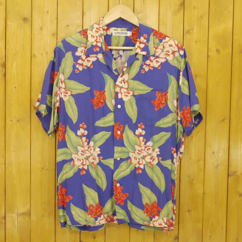 【中古】COOTIE/クーティー 半袖 アロハシャツ サイズ:M カラー:ブルー系【f104】