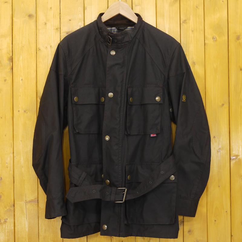 【中古】BELSTAFF/ベルスタッフ オイルドジャケット サイズ:S カラー:ブラウン系【f093】