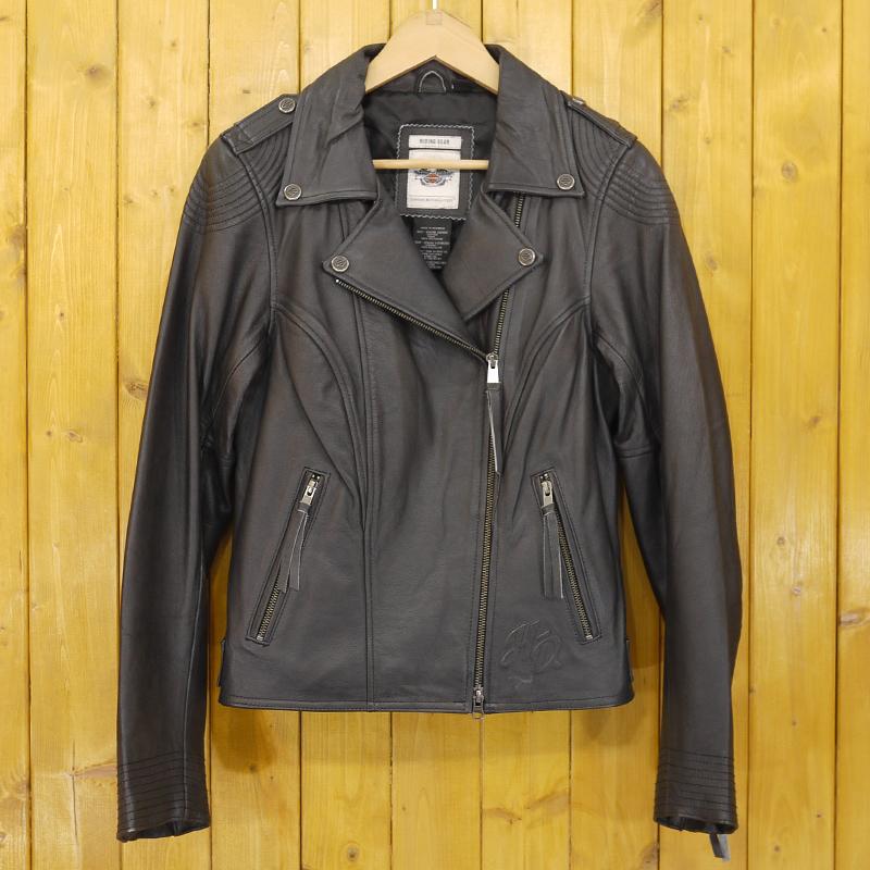 【中古】Harley Davidson/ハーレーダビッドソン ライダースジャケット レザージャケット サイズ:M カラー:ブラック【f093】