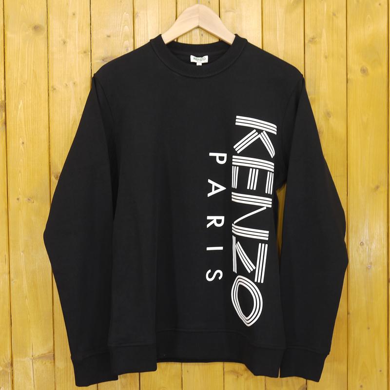 【中古】KENZO/ケンゾー SWEATSHIRT スウェット 5SW132 4MD サイズ:XS カラー:ブラック【f108】