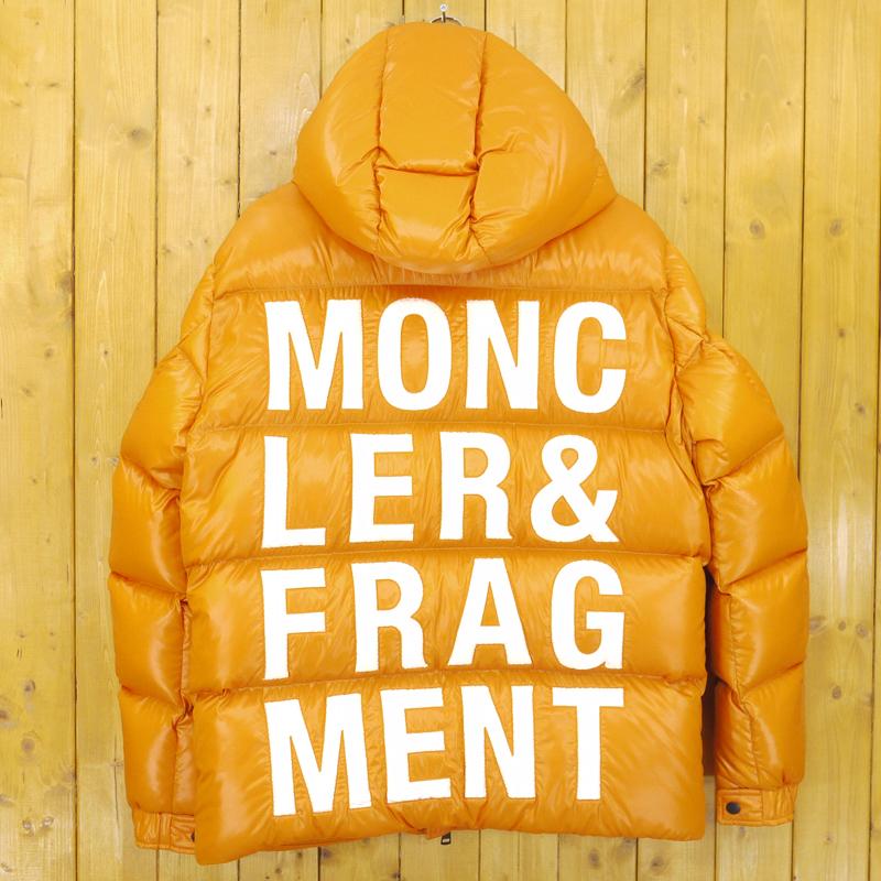 【中古】MONCLER/モンクレール HANRIOT 7 Moncler Fragment Hiroshi Fujiwara ダウンジャケット サイズ:3 カラー:オレンジ【f108】