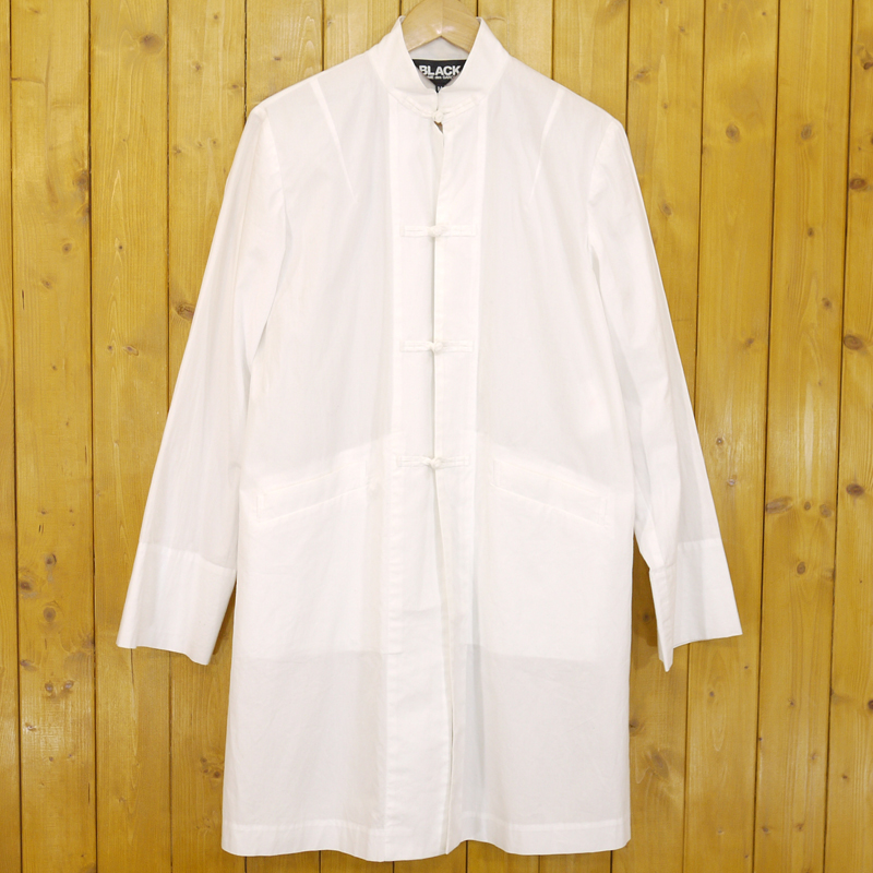 【中古】BLACK COMME des GARCONS/ブラックコムデギャルソン チャイナシャツ ジャケット サイズ:M カラー:ホワイト【f108】
