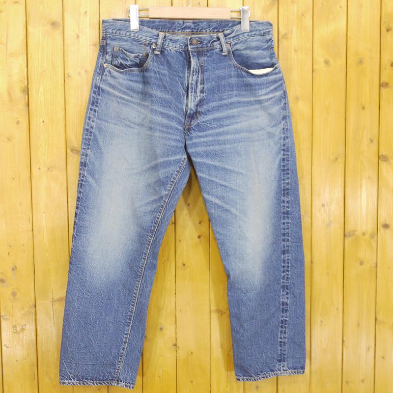 【中古】WAREHOUSE/ウエアハウス 1960s テーパードジーンズ Lot 1105 2ND-HAND デニムパンツ サイズ:38 カラー:ブルー【f107】
