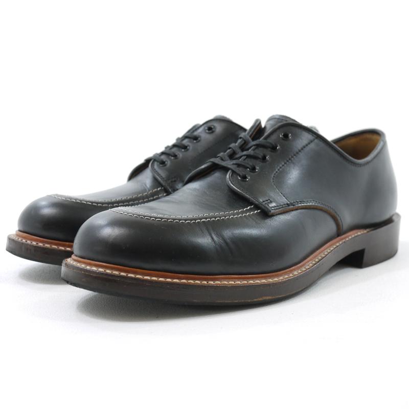 【中古】WHEEL ROBE/ウィールローブ MOC TOE OXFORD モックトゥ オックスフォード レザーシューズ 革靴 サイズ:8 カラー:ブラック【f127】