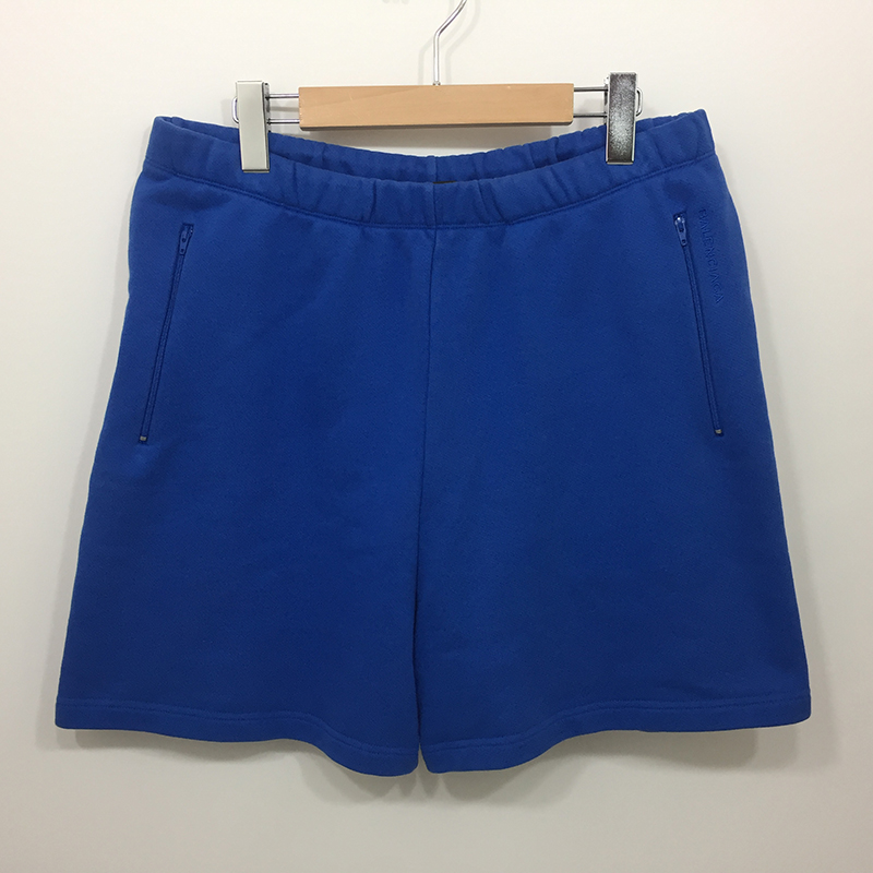 【中古】BALENCIAGA/バレンシアガ スウェットパンツ ショートパンツ サイズ:M カラー:ブルー【f108】