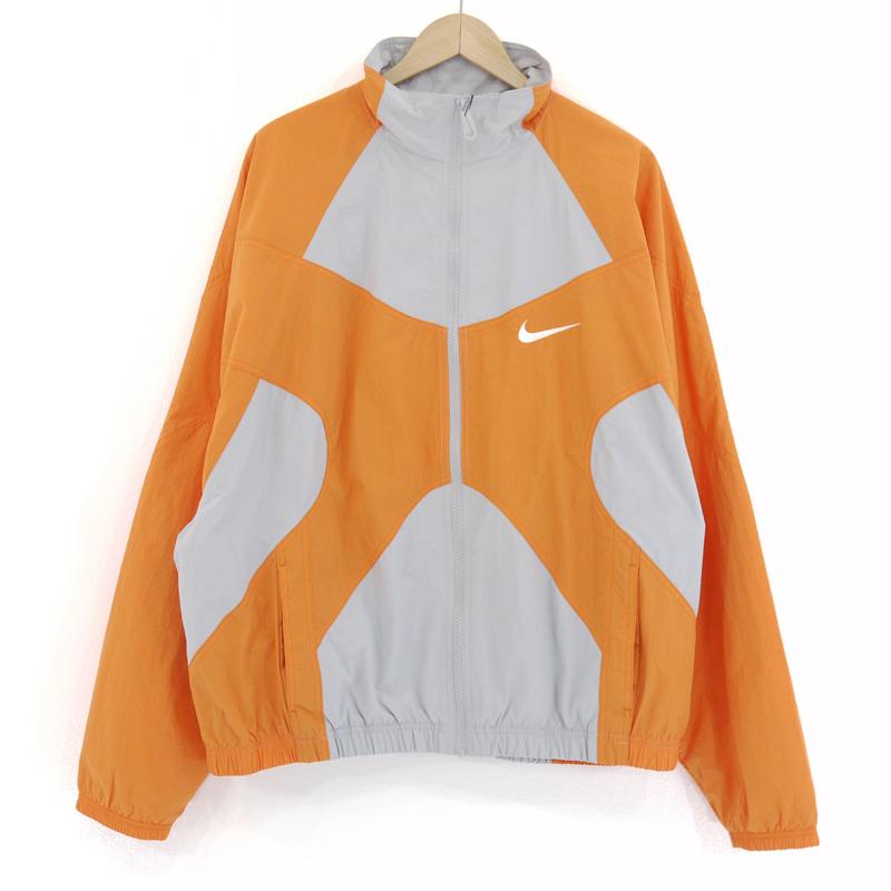 中古 レビューを書けば送料当店負担 NIKE ナイキ リイシュー 信頼 ウーブン サイズ:L f095 カラー:オレンジ×グレー ジャケット