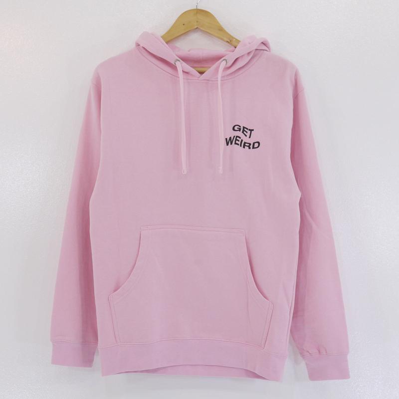 【中古】ANTI SOCIAL SOCIAL CLUB/アンチソーシャルソーシャルクラブ Get Weird Pink Hoodie プルオーバーパーカー サイズ:S カラー:ピンク【f103】
