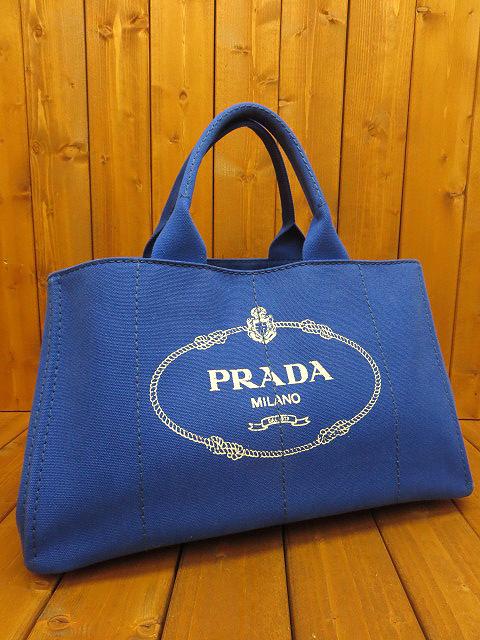 【中古】PRADA/プラダ BN1872 CANAPA/カナパ トートバッグ カラー:ブルー