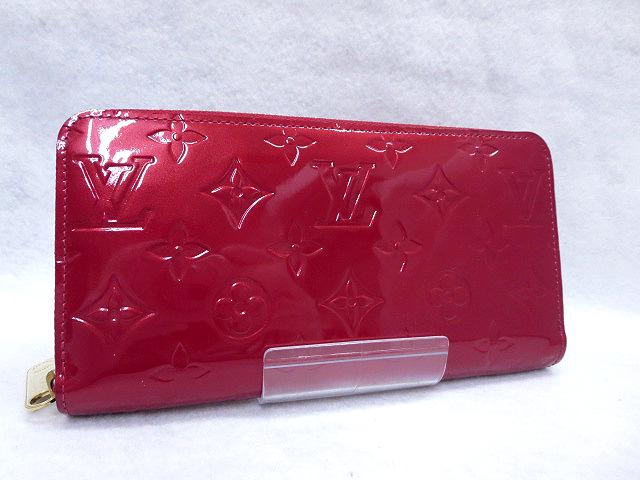 【中古】LOUIS VUITTON/ルイヴィトン M91981 モノグラム ヴェルニ ジッピーウォレット/ラウンドファスナー長財布