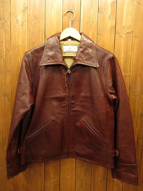 【中古】AVIREX/アヴィレックス レザージャケット サイズ:S カラー:ブラウン / アメカジ