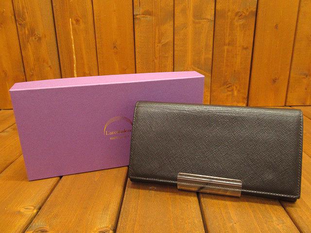 【中古】L'arcobaleno/ラルコバレーノ 長財布 / ロングウォレット カラー:ブラウン×オレンジ