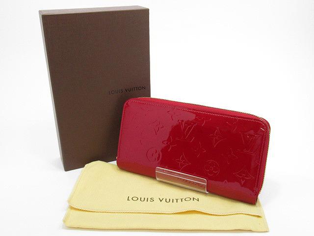 【中古】LOUIS VUITTON/ルイ ヴィトン M91597 モノグラム・ヴェルニ ジッピー・ウォレット / ラウンドファスナー長財布
