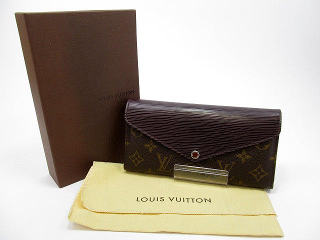 【中古】LOUIS VUITTON/ルイ ヴィトン M60430 モノグラム ポルトフォイユ・マリール・ロン・ケッチュ 三つ折り財布
