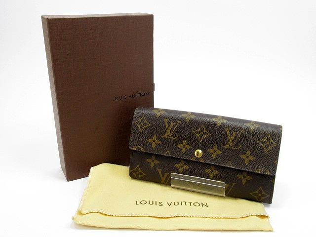 【中古】LOUIS VUITTON/ルイヴィトン M61734 モノグラム ポルトフォイユ・サラ 長財布