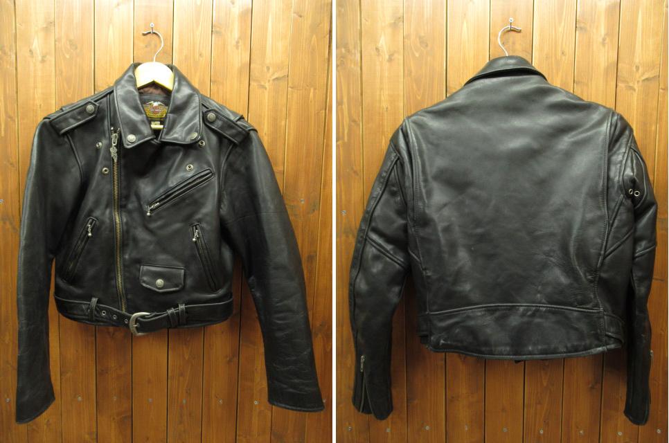 【中古】HARLEY DAVIDSON/ハーレーダビットソン レザージャケット サイズ:S カラー:ブラック / アメカジ