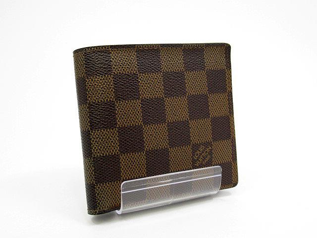 【中古】LOUIS VUITTON/ルイヴィトン N61675 ダミエ ポルトフォイユ・マルコ 二つ折り財布