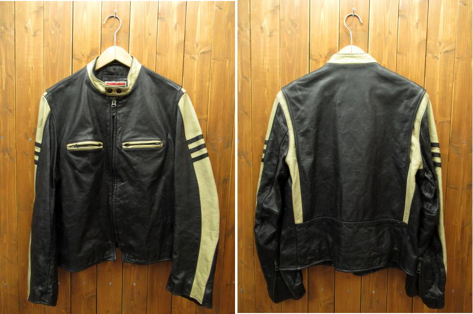 【中古】TOMMY HILFIGER/トミーヒルフィガー レザージャケット サイズ:S カラー:ブラック / ストリート