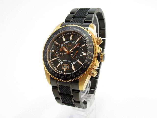 【中古】GUESS/ゲス GUESS COLLECTION 腕時計 47002G ブラック×ブラック クォーツ ステンレススティールベルト